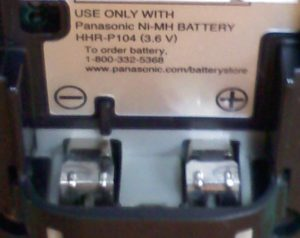 Panasonic cordless phone battery connection