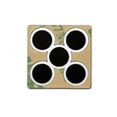Single Button With 5 Contacts 20mm Square