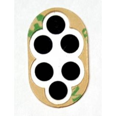 Single Button With 6 Contacts 16x26mm Oval